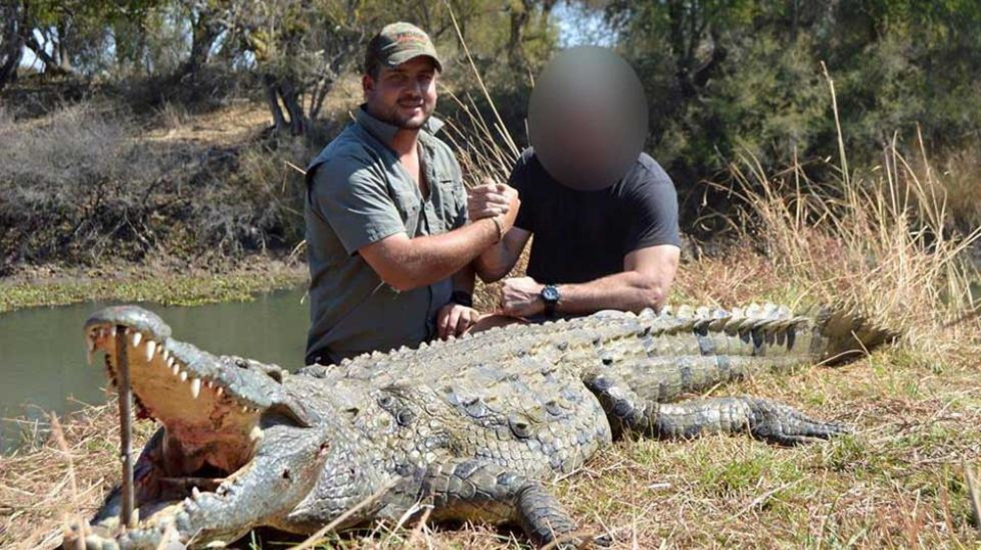 Un cazador sudafricano murió devorado por dos cocodrilos en Zimbabue