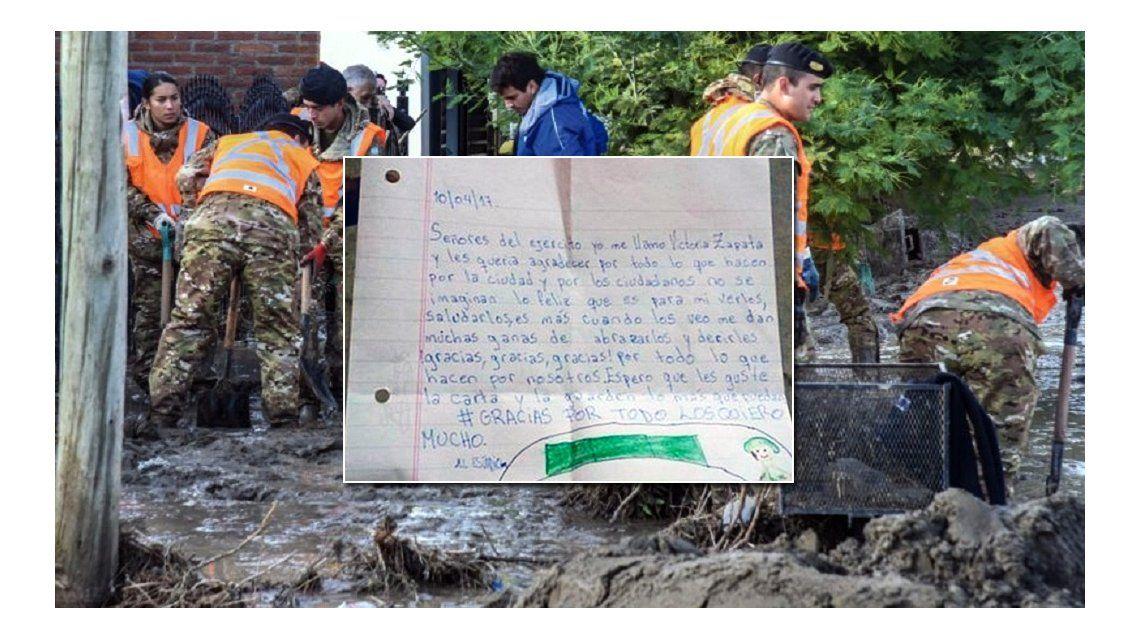 La emotiva carta que le envió una nena a los soldados de Comodoro