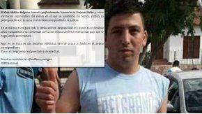 Belgrano lamentó la muerte de Baldo