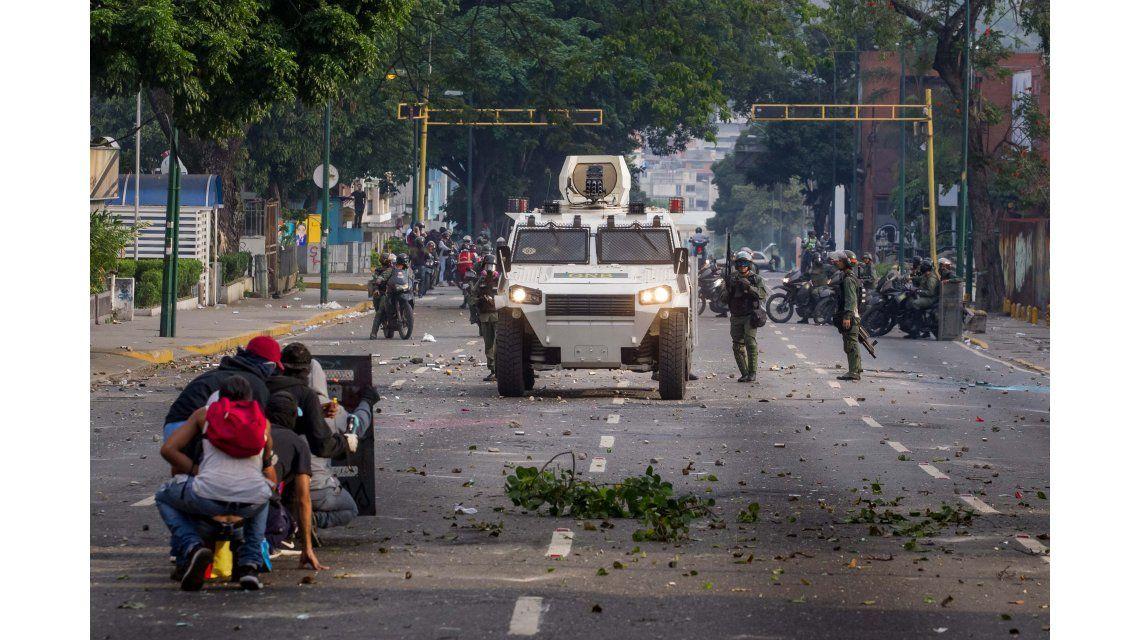 Enfrentamientos en las calles de Venezuela