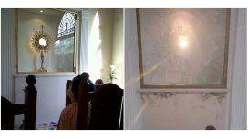 El antes y después del robo a una capilla en City Bell