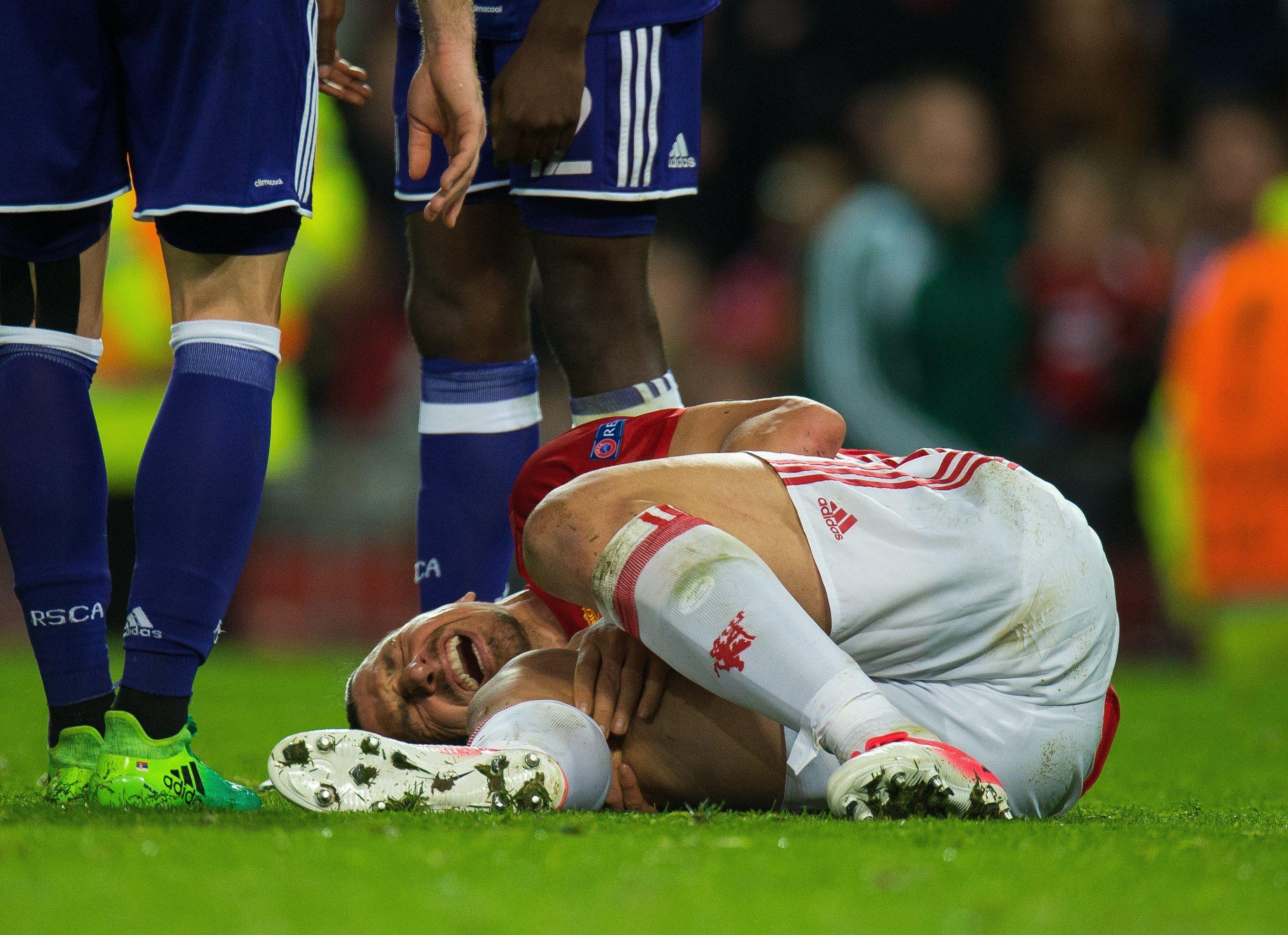 La dura lesión de Zlatan Ibrahimovic