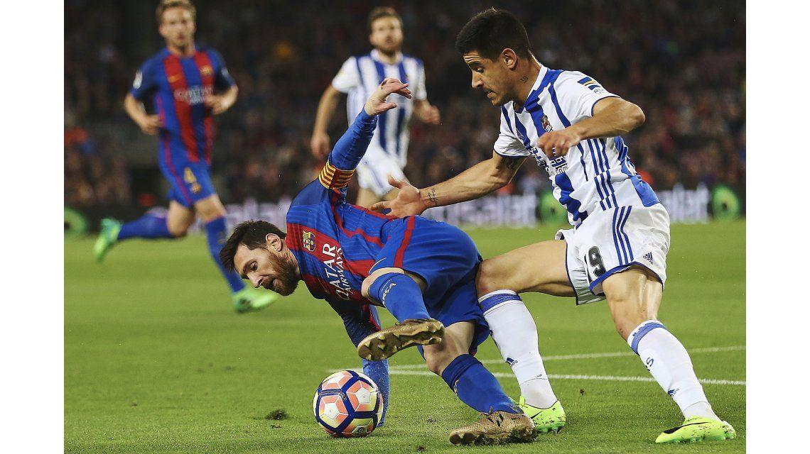 Barcelona sufrió de más pero venció a Real Sociedad con dos goles de Messi