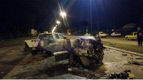Choque fatal en Lisandro Olmos. Foto gentileza: Red 92