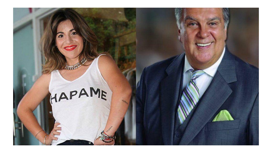 Fuerte cruce entre Gianinna Maradona y Luis Ventura