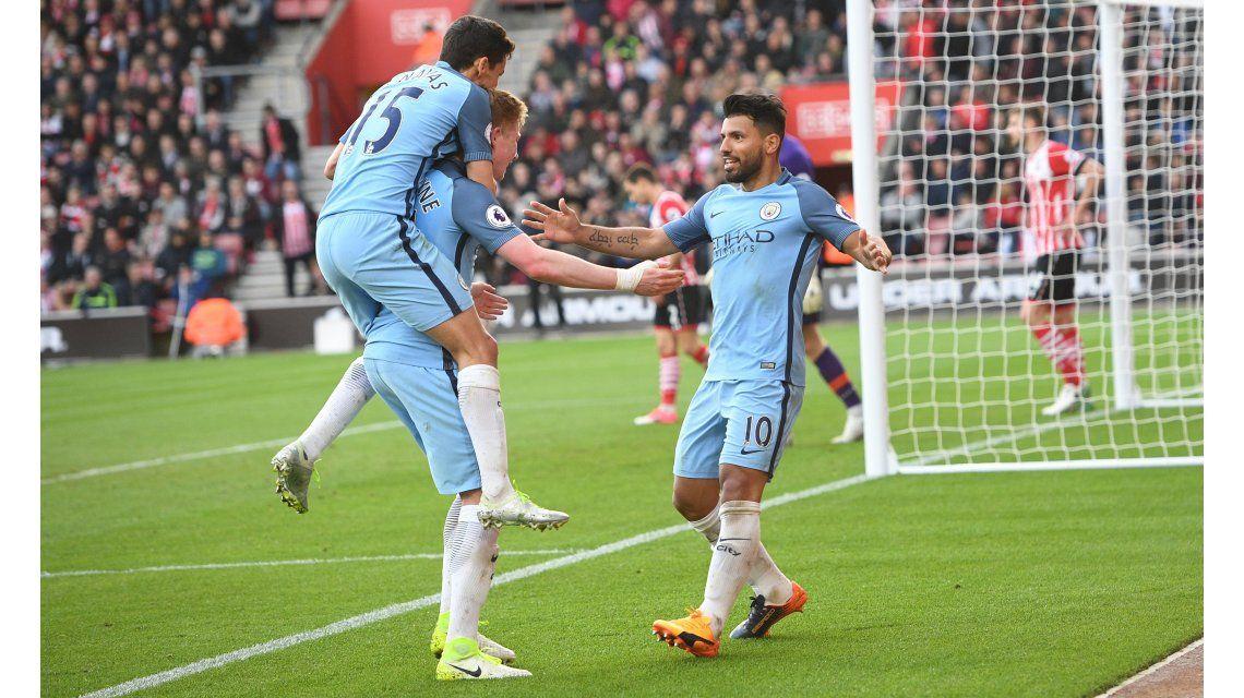 El grito goleador del Kun Agüero ante el Southampton
