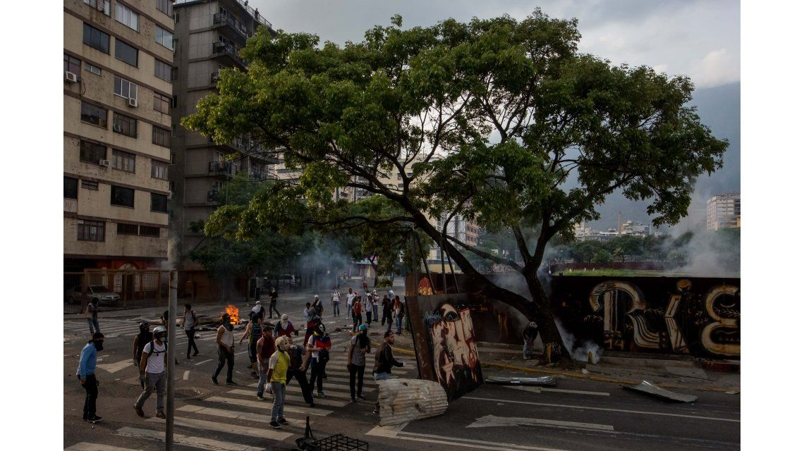 Barricadas en Venezuela contra el gobierno de Nicolás Maduro