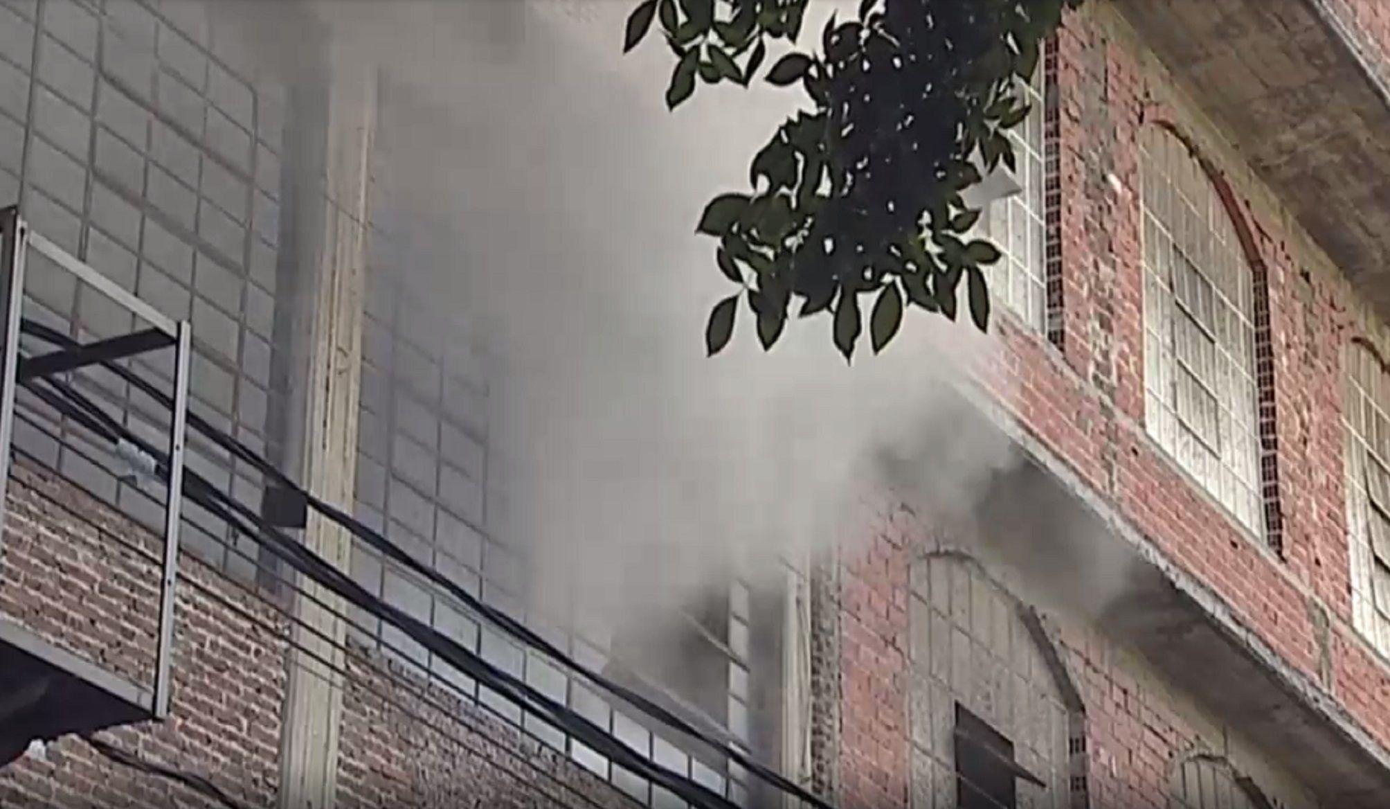 Se incendió una fábrica de textiles en San Martín