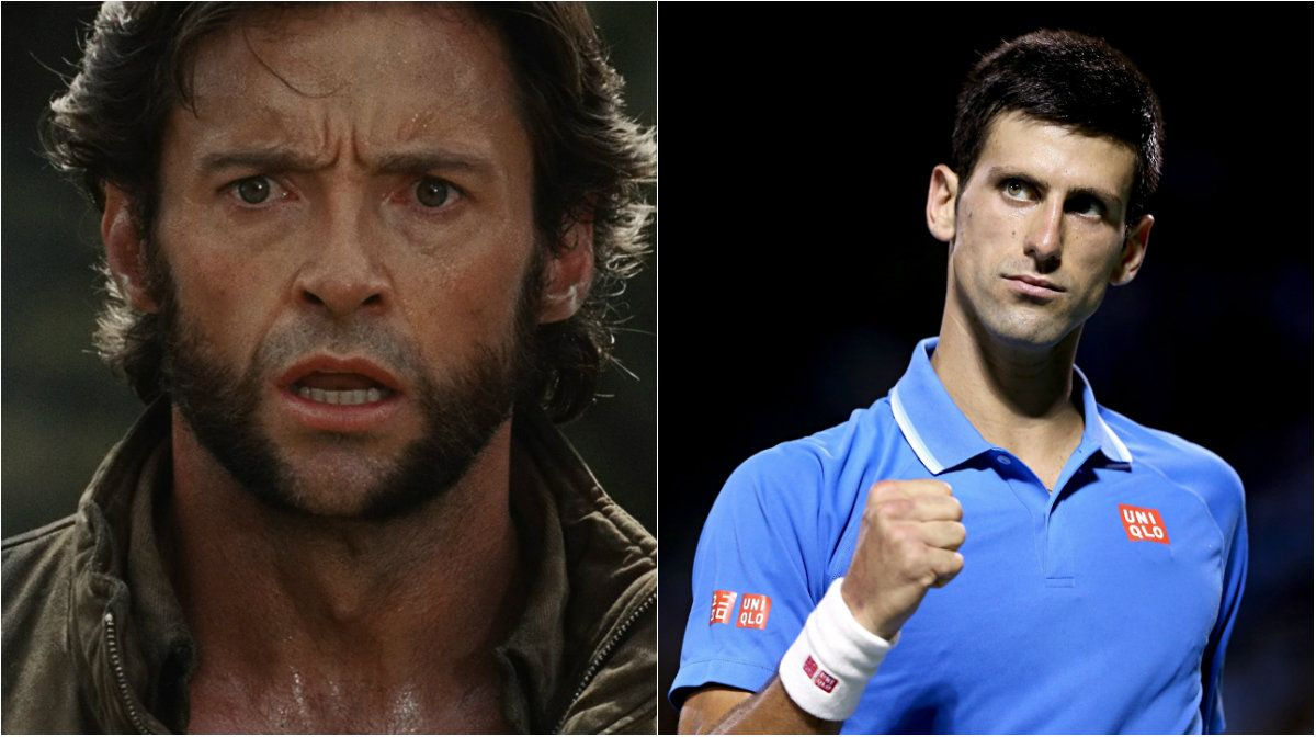 Hugh Jackman y Novak Djokovic se cruzaron en Twitter