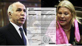 Ésta es la nueva carta documento que el titular de la Corte le mandó a Carrió