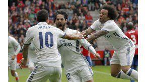 El grito desaforado de Isco, junto a James y Marcelo