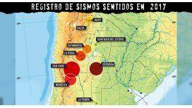 Registro de sismos de 2017