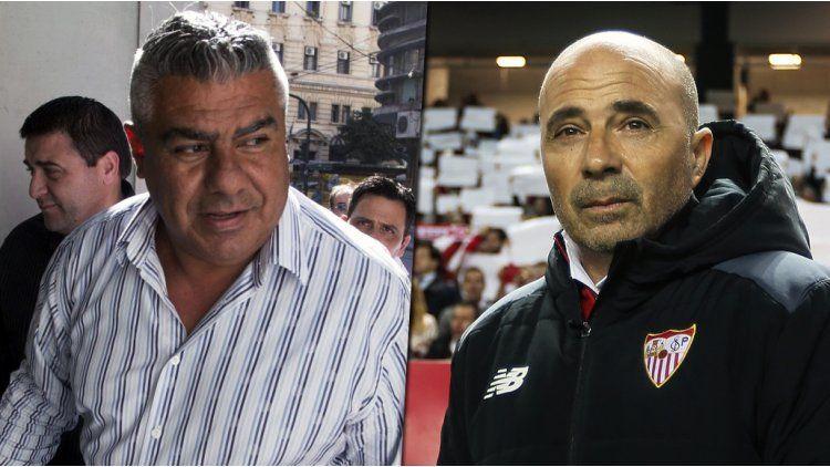 Chiqui Tapia y Jorge Sampaoli
