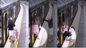 El niño cayó por el estrecho espacio entre el tren y el andén