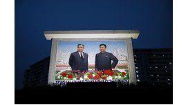 Kim Il-Sung y Kim Il-Sung en el Día del Sol de Corea del Norte