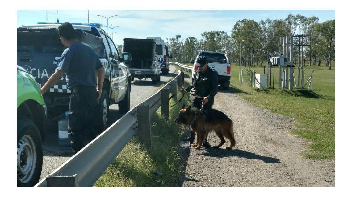 La policía continuó con los rastrillajes