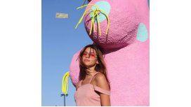 Calu Rivero y un peculiar look en el festival Coachella
