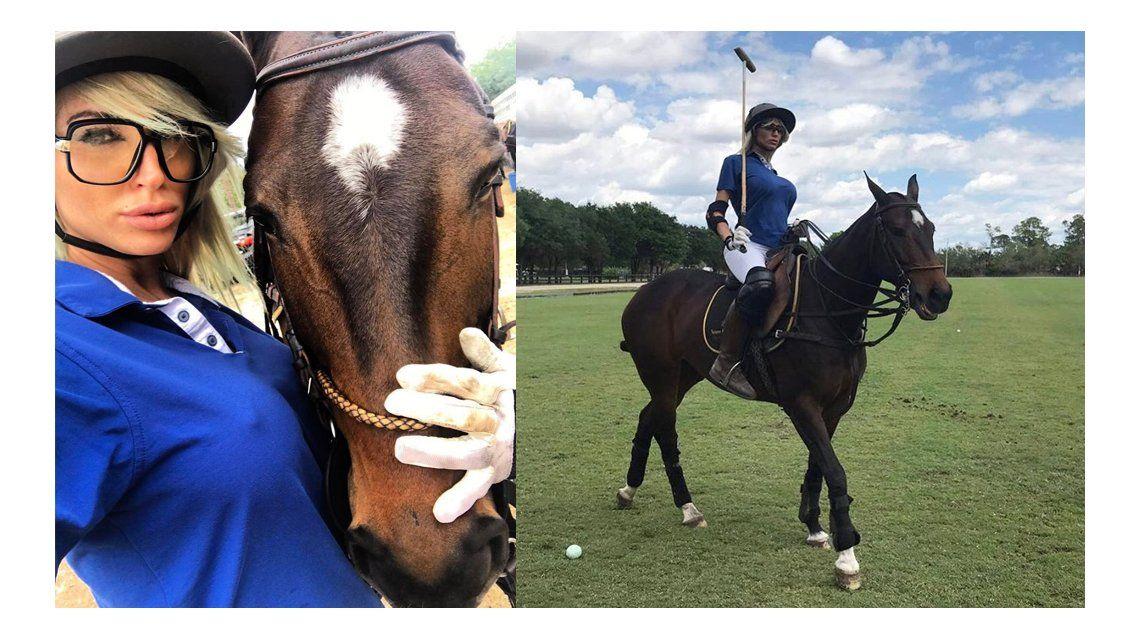 VIDEO: El grito de Vicky Xipolitakis en una clase de polo en Miami