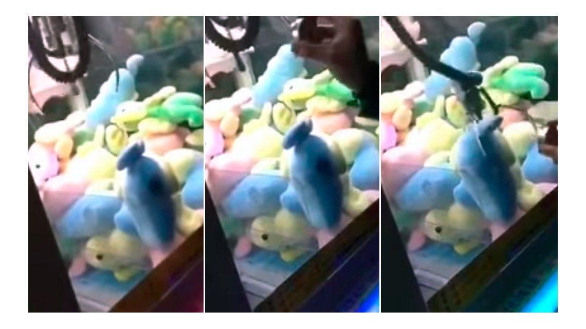 Un joven hackeó una máquina de peluche en China