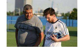 El presidente de AFA junto al mejor futbolista del mundo