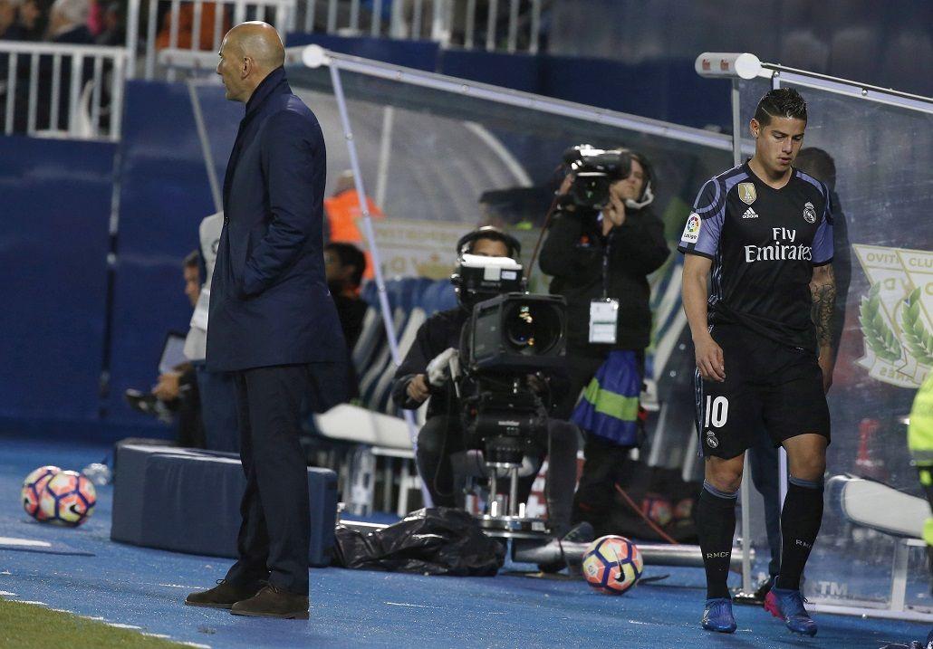 James Rodríguez se enojó con Zidane