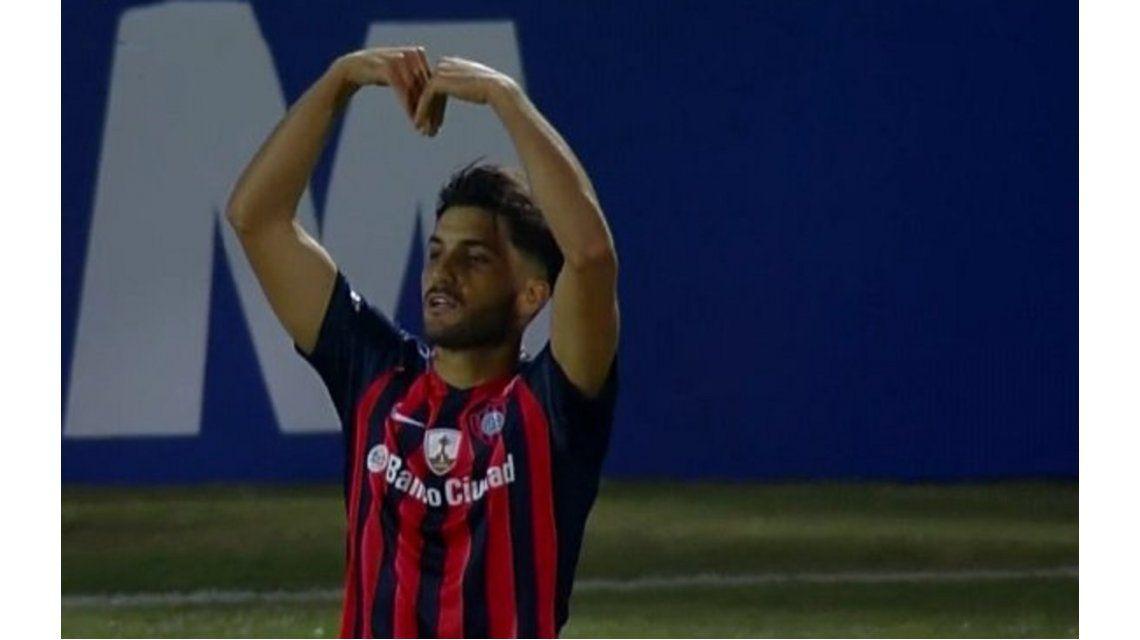 Blandi marcó el gol de San Lorenzo