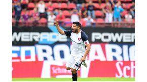 El grito de gol de Ortigoza tras el penal ante Sarmiento