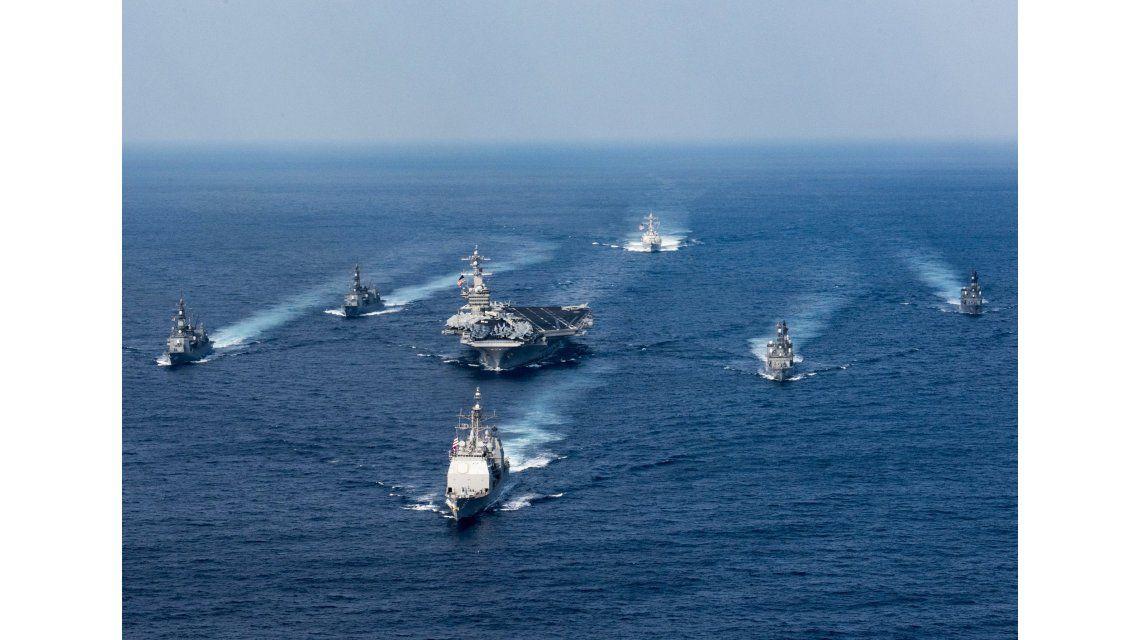 Trump envió un portaaviones a Corea del Norte
