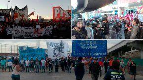 Grupos de izquierda realizaron cortes en distintos puntos de la Ciudad