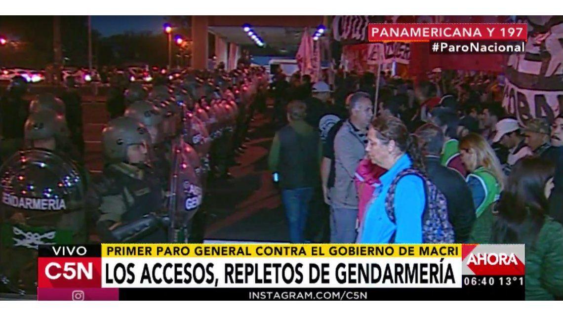 Operativo antipiquete: corte en Panamericana e incidentes en Puente Pueyrredón