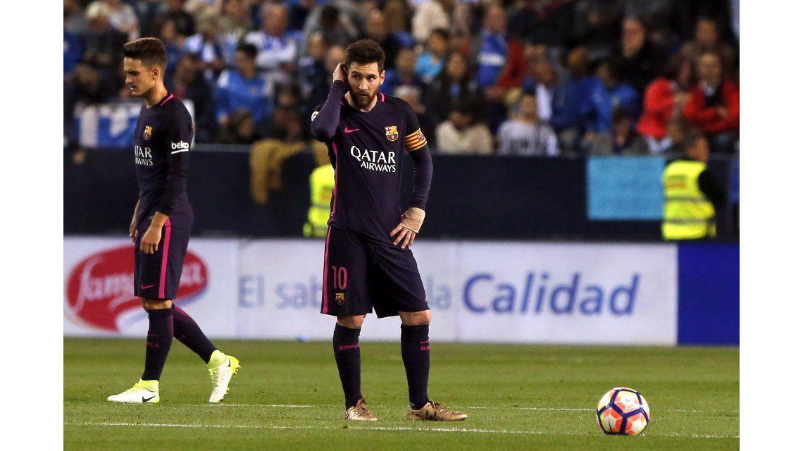 La desazón de Lionel Messi ante Málaga