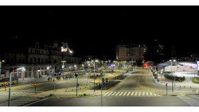 Así estaba la zona de Plaza Constitución