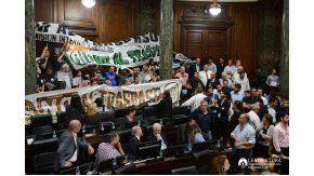Protesta de judiciales en la Legislatura