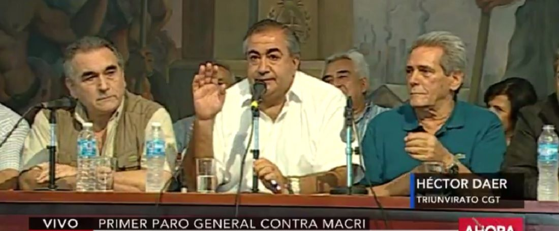 La CGT a Macri: Nosotros estamos tristes porque hay millones sin trabajo