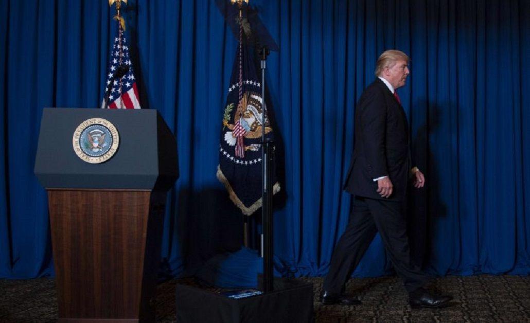 Donald Trump habló a los medios tras el bombardeo a Siria