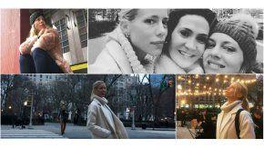 Nicole junto a Geraldine y la diseñadora Estefanía Rubioen NYC