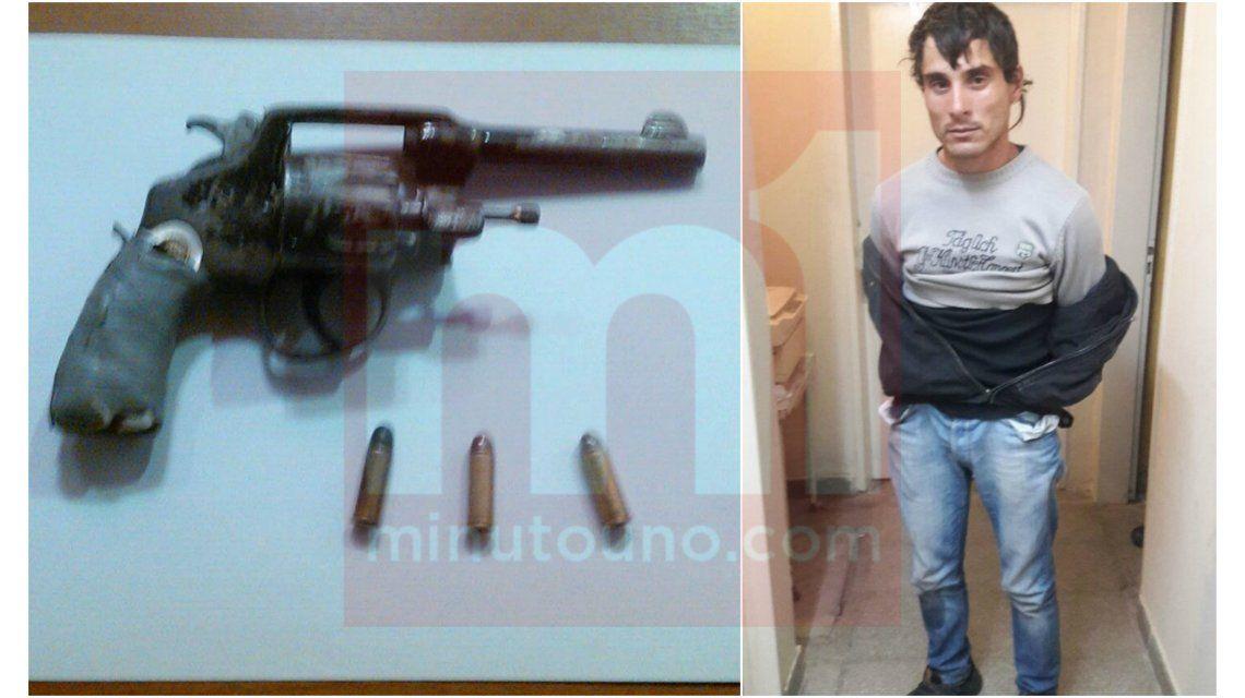 Sebastián Wagner y el arma con la que intentó suicidarse