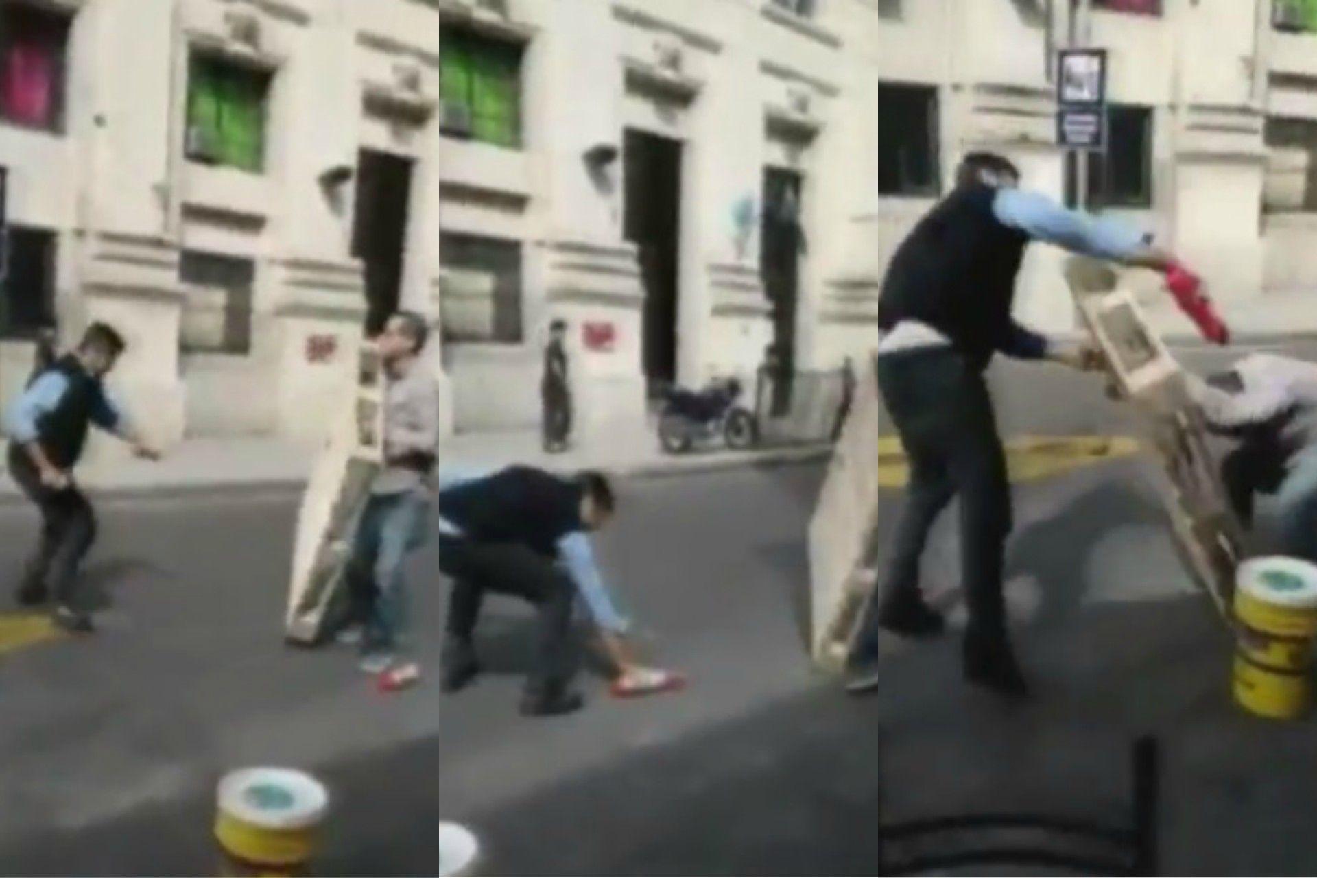 Un roce entre un auto y el colectivo terminó en una violenta pelea