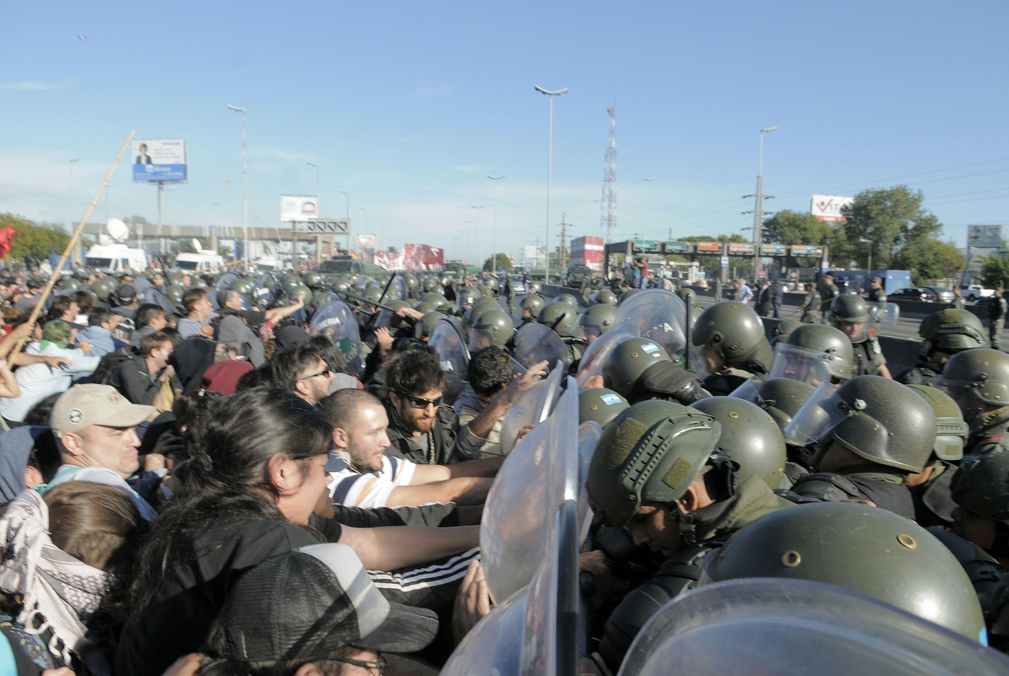 La represión de Gendarmería en Panamericana y 197