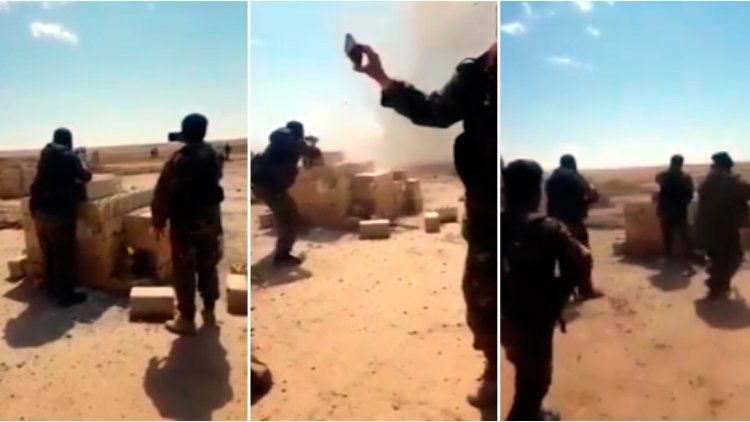 Terroristas de ISIS activaron sus chalecos en pleno control sirio