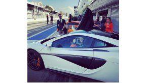 Wanda Nara, a toda velocidad en un circuito de Formula 1