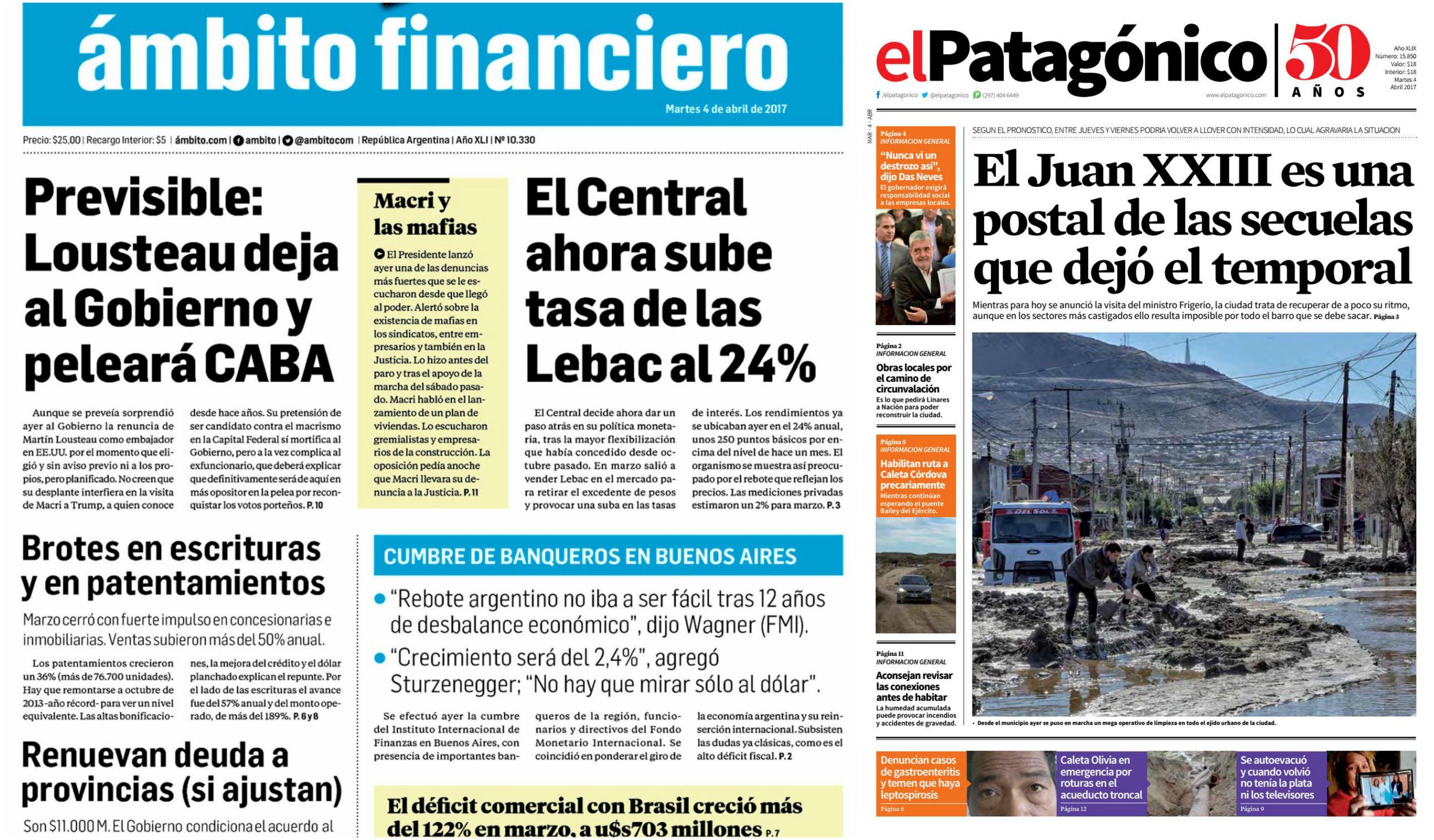 Tapas de diario del martes 4 de abril de 2017