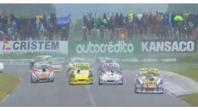 La carrera se corrió bajo una intensa lluvia