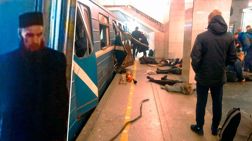 Las cámaras captaron al presunto autor de la explosión en Rusia