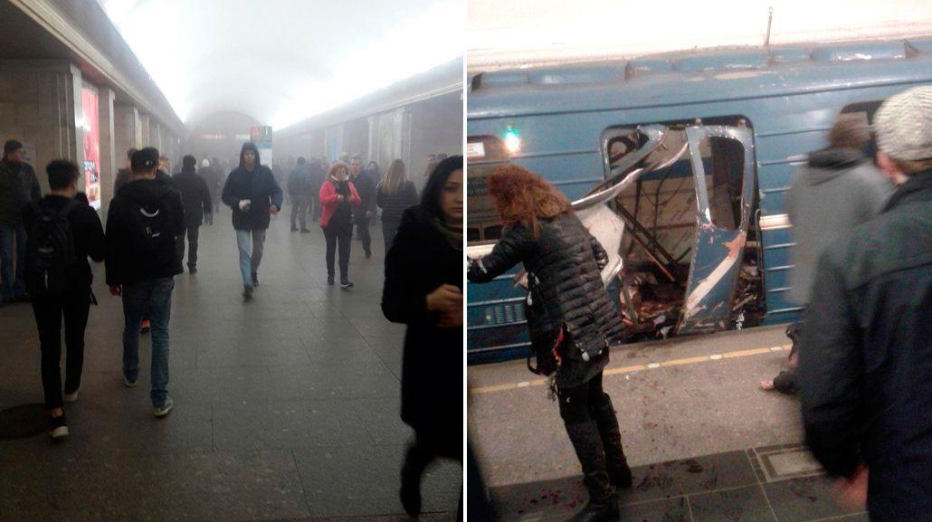 Rusia: dos explosiones en el subte de San Petersburgo dejaron al menos 9 muertos