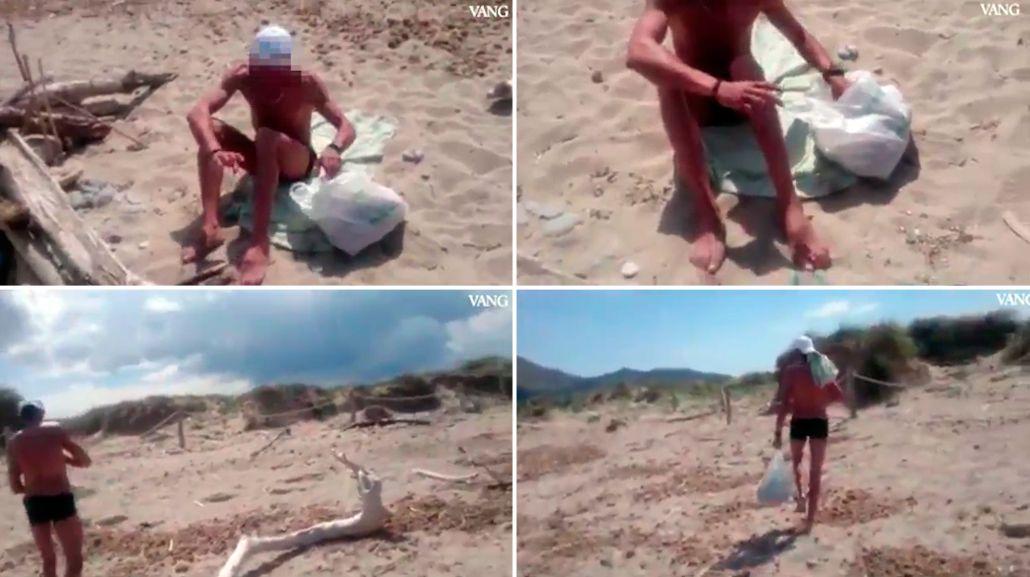 Escrachan a hombre masturbándose frente a una joven en una playa
