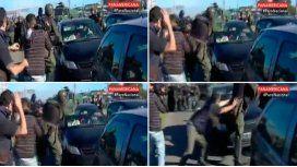 Un gendarme le pegó una trompada a un conductor