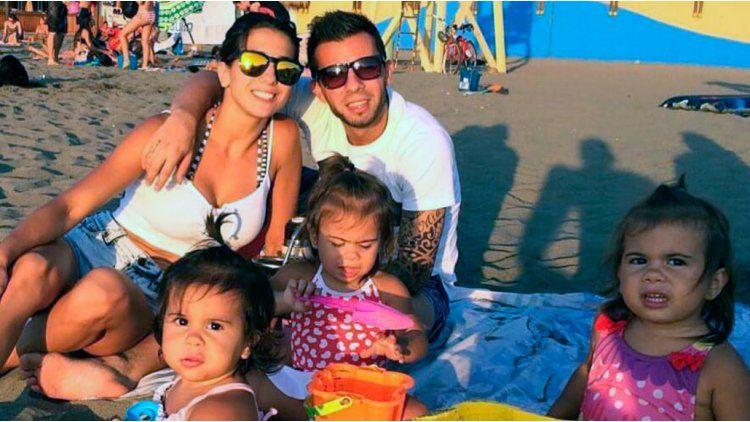 Cinthia Fernández y su familia