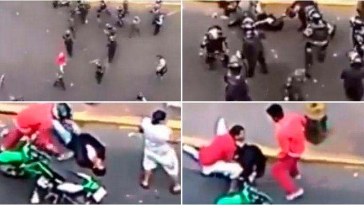 La Policía golpeó brutalmente a un hincha en Honduras