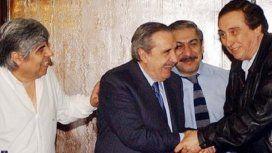 Hugo Moyano, Raúl Alfonsín, Héctor Daer y Saúl Ubaldini